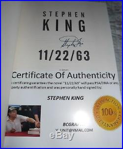 11/22/63 Signed By Stephen King First Edition November 2011 Excellent Condition