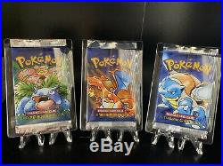 1st Edition English Pokemon Base Set Booster Pack Art Set Excellent Condition