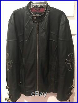 Affliction Leather Motorcycle Jacket Limited Edition XXL EXCELLENT Condition