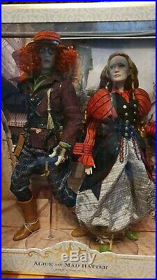 Alice in Wonderland and Mad Hatter, Disney Limited edition, excellent condition