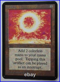 Alpha Edition Sol Ring Magic the Gathering Excellent to Near Mint Condition