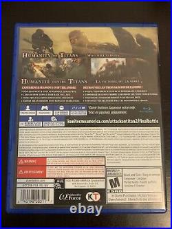 Attack On Titan 2 Final Battle PlayStation 4, US Edition, Excellent Condition