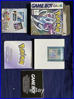 Authentic Gameboy Pokemon Crystal Boxed Aus Version (Rare) Excellent Condition