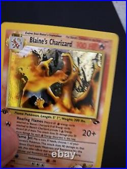Blaine's Charizard 1ST EDITION Gym Challenge 2/132 Holo Excellent Condition