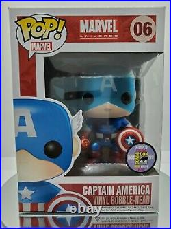 Captain America Metallic SDCC 2011 Limited Edition to 480 EXCELLENT CONDITION