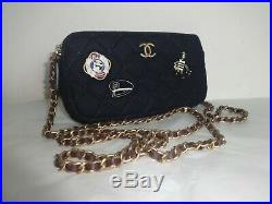 Chanel Cruise Camera Case Bag Dark Navy Excellent Condition 2018 Limited Edition