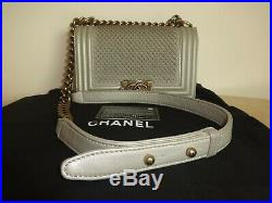 Chanel Limited Edition Leather sequins Boy Bag Excellent Condition