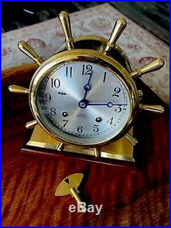 Chelsea Ships Bell Clock Limited Edition Excellent Condition