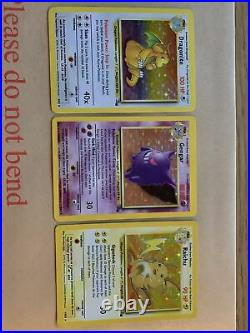 Complete Pokemon Fossil Set, 62/62, Excellent Condition + 6 Extra 1st Editions