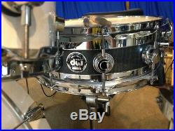 DW EDGE EBONY STAIN 10 lug Snare Drum 1st Edition EXCELLENT condition