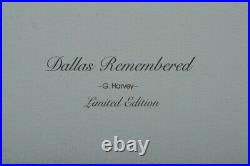 Dallas Remembered by artist G. Harvey Excellent Condition Limited Edition