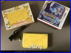 Excellent Condition Nintendo 3DS XL Pikachu Edition Yellow System With Games