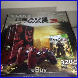 Gears of war 3 xbox 360 Limited Edition Console 320gb Excellent Condition