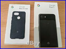 Google Edition Pixel 3 G013A 64GB Just Black Unlocked excellent condition