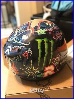 HJC RPHA 10 Lorenzo Graffiti Edition Motorcycle Helmet Large Excellent Condition