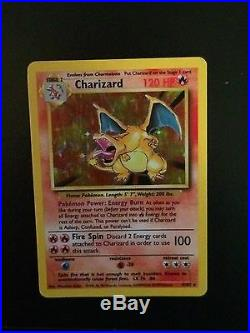 Holographic Charizard Base Set Edition 4/102 Excellent Condition