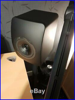 KEF LS50 Speakers Black Edition (Excellent Condition)