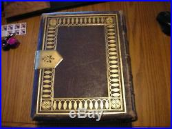LARGE 1871 Hardings Edition Holy Bible Leather With Clasp EXCELLENT CONDITION