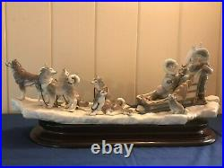 Large Limited Edition LLadro ONWARD! Signed Numbered Excellent Condition