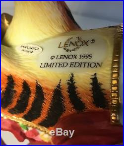 Lenox Carousel Tiger Figurine 1995 Limited Edition Excellent Condition Set Of 2