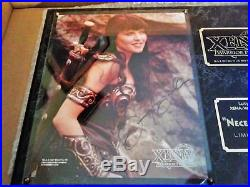 Limited Edition Autographed Lucy Lawless Xena Plaque. Excellent condition