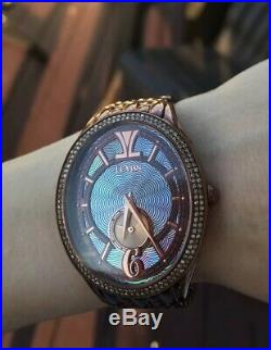 Limited Edition Levian Watch EXCELLENT Condition Brown Blue Chocolate Diamonds