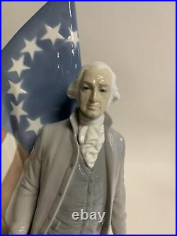 Lladro #7575, George Washington, Limited Edition To 2000, Excellent Condition