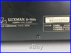 Luxman D-700S Limited Edition in Excellent Condition