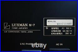 Luxman M-7 Limited Edition Power Amplifier in Excellent Condition