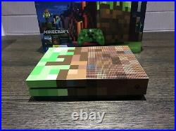 Microsoft Xbox One S Minecraft Limited Edition Console RARE Excellent Condition