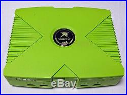 Mountain Dew Limited Edition XBOX w Controller All Cables -Excellent Condition