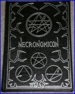 NECRONOMICON Leather Bound 3rd Edition 1981 Signed By Simon Excellent Condition