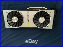 NVIDIA GeForce RTX 2080 Super Founders Edition 8GB DDR6 Excellent Condition