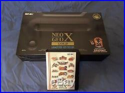 Neo Geo X Gold Limited Edition Boxed And Mega Pack Bundle Excellent condition