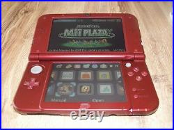 New version Nintendo 3DS XL Red Handheld System With Games Excellent Condition