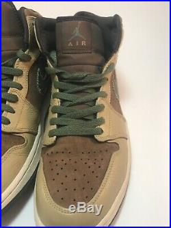 Nike Air Jordan 1, 2007 Size 10 Military Edition -325514 231 Excellent Condition