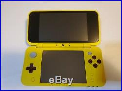 Nintendo 2DS XL System PIKACHU EDITION Excellent Condition with Box & Charger