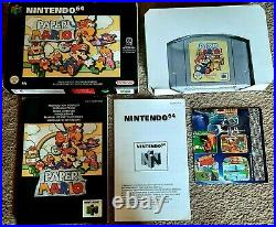 Nintendo 64 N64 Game Paper Mario Boxed Complete Excellent Condition Pal Version