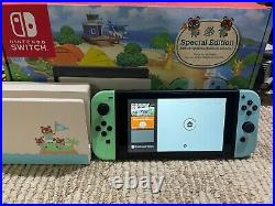 Nintendo Switch Animal Crossing New Horizon Special Edition-Excellent Condition