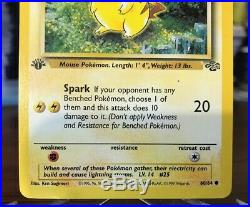 PIKACHU 1st EDITION POKEMON CARD! NEVER PLAYED! EXCELLENT CONDITION! GRADE ME