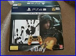 PS4 Pro Death Stranding Limited Edition Console controller Excellent Condition