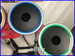 PS4 Rock Band 4 Band in Box Drums Guitar Limited Edition Red Excellent Condition
