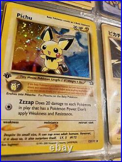 Pichu 1st Edition Holo Neo Genesis 12/111 Pokemon Card, Excellent Condition