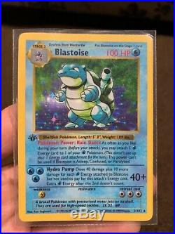 Pokemon Blastoise Card 2/102 first edition holo shadowless excellent condition