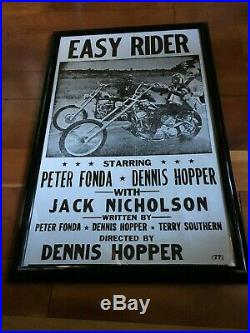 Rare Easy Rider (77) Movie Poster 14 x 22 White Edition Excellent Condition