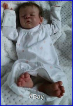 Reborn baby doll realistic preemie girl excellent condition limited edition kit