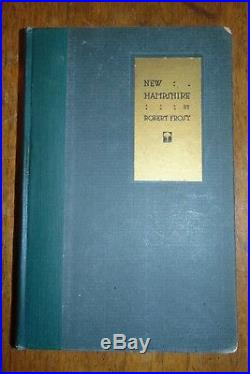Robert Frost Signed New Hampshire Poetry Book First Edition Excellent Condition
