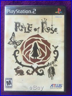 Rule of Rose 100% Authentic PS2 US Version Excellent Condition -COMPLETE