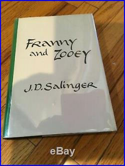STATED FIRST EDITION J. D. Salinger FRANNY AND ZOOEY DJ Excellent Condition