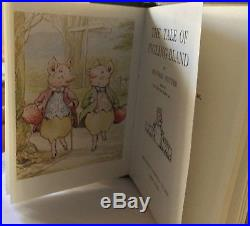STEIFF BEATRIX POTTER Pigland Bland excellent condition withBook! 1500 edition